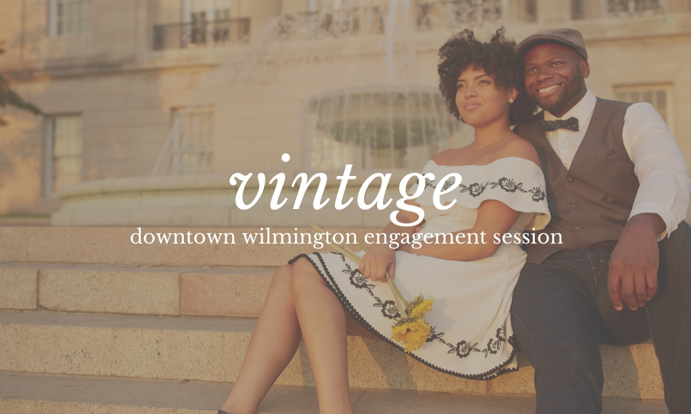 Vintage Wilmington NC Engagement Photos